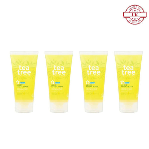 Superdrug Tea Tree Skin Care Daily Lemon Facial Wash 150ml 4Pcs Set