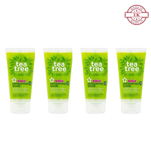 Superdrug Tea Tree Face Scrub 75ml 4Pcs Set