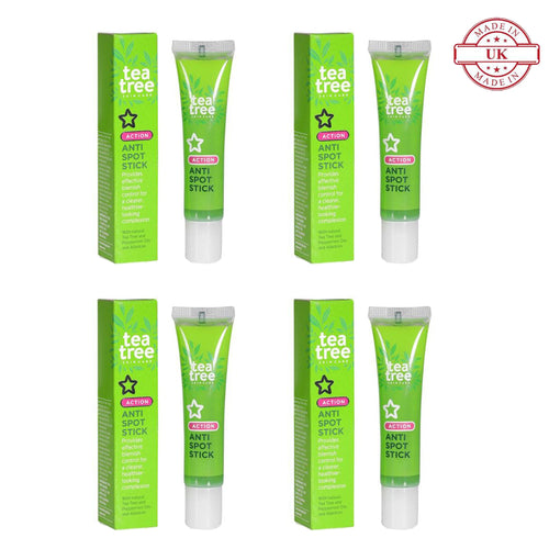 Superdrug Tea Tree Spot Gel 15ml 4Pcs Set