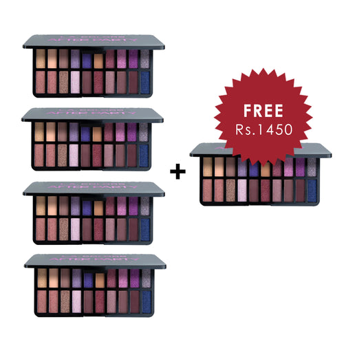 L.A. Colors 20 Color Eyeshadow Palette - After Party 4pc Set + 1 Full Size Product Worth 25% Value Free