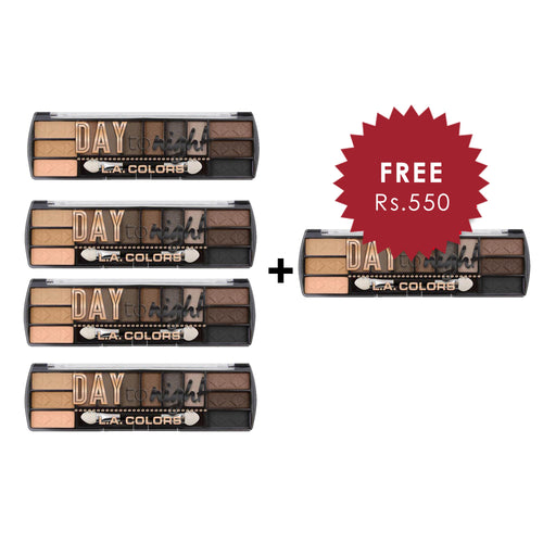 L.A. Colors Day to Night 12 Color Eyeshadow - Daylight 4pc Set + 1 Full Size Product Worth 25% Value Free