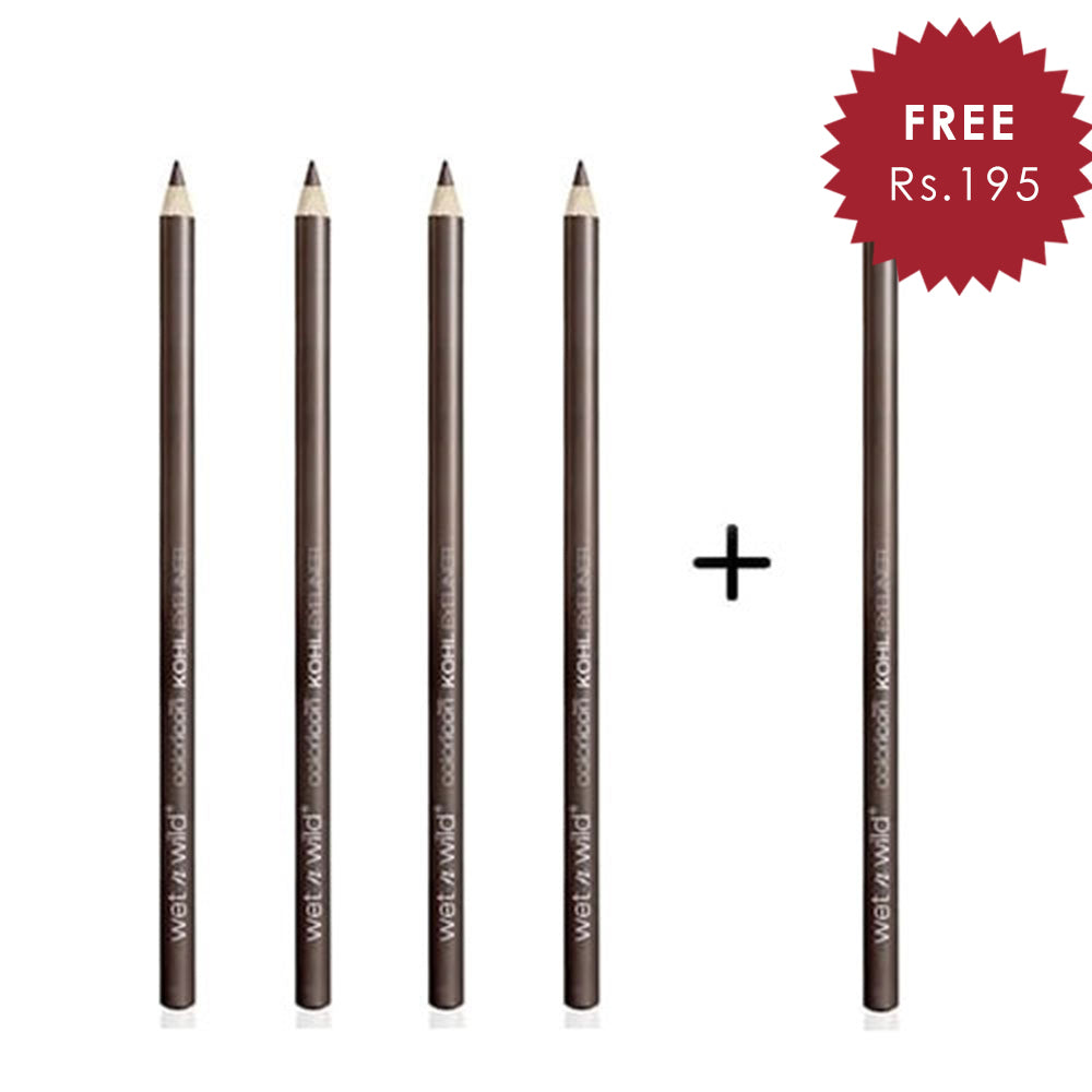 Wet N Wild Color Icon Kohl Liner Pencil - You'Re Always White 4pc Set + 1 Full Size Product Worth 25% Value Free