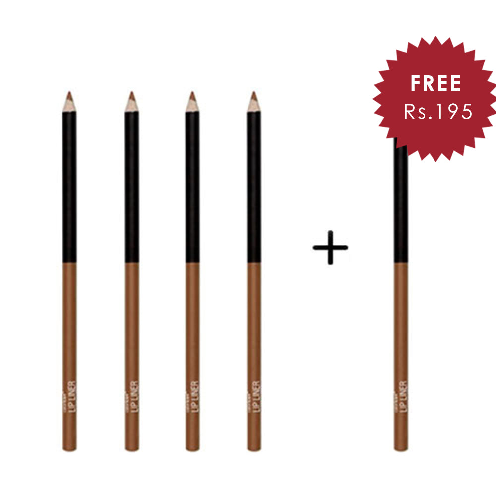 Wet N Wild Color Icon Lip Liner Pencil - Wilow 4pc Set + 1 Full Size Product Worth 25% Value Free