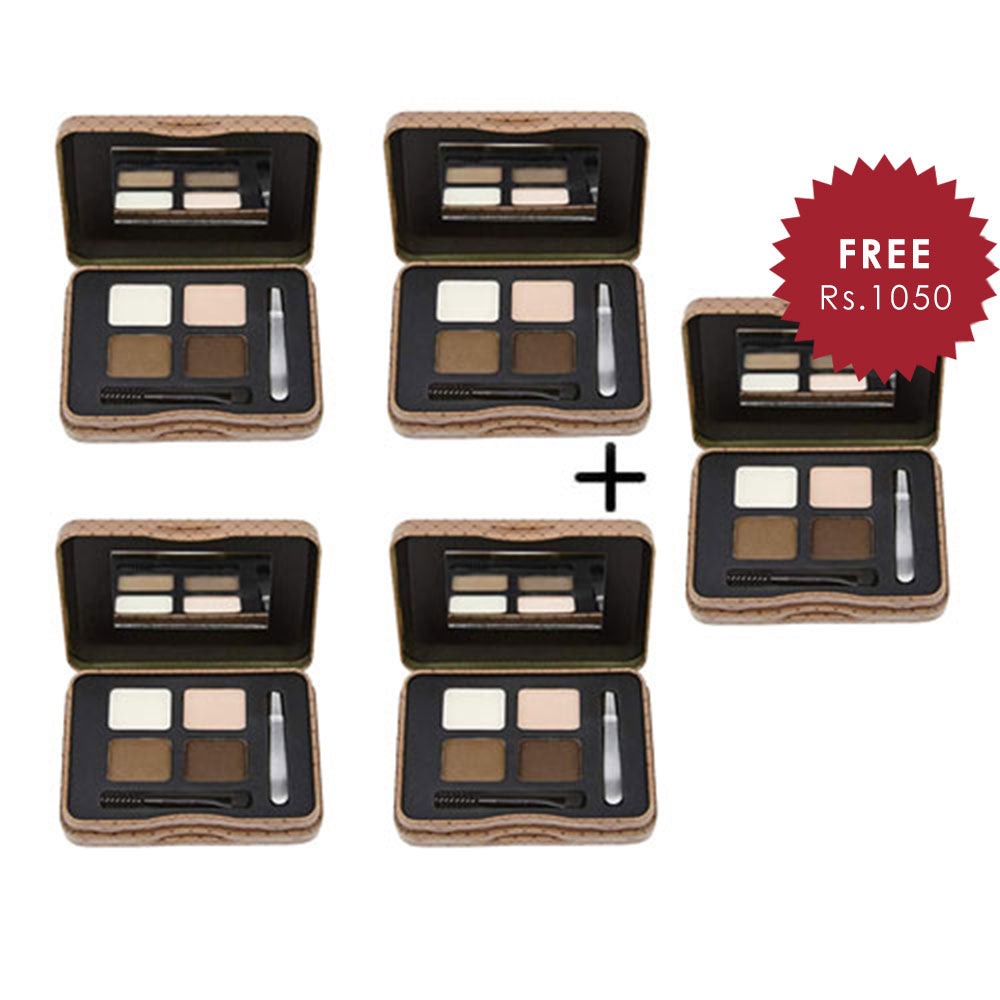 L.A. Girl Inspiring Brow Kit Dark and Defined 4pc Set + 1 Full Size Product Worth 25% Value Free