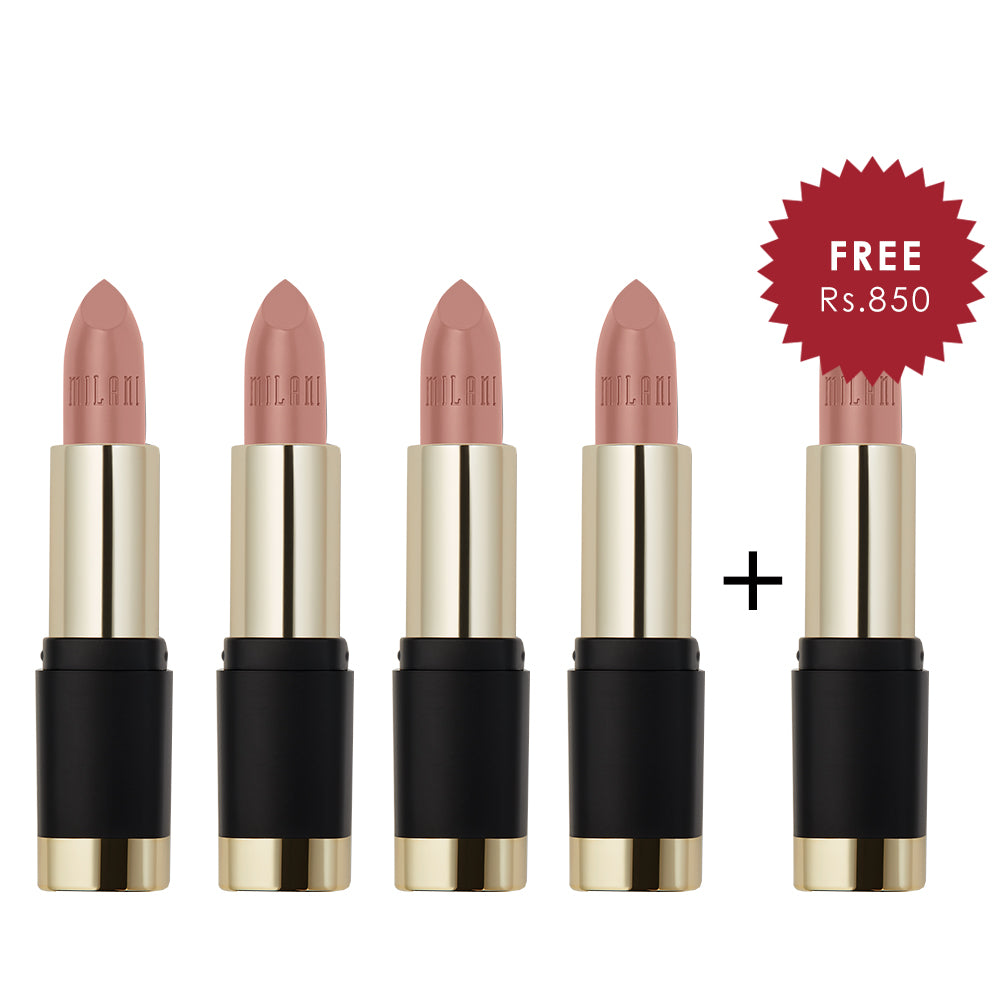Milani Bold Color Statement Matte Lipstick I Am Awesome 4pc Set + 1 Full Size Product Worth 25% Value Free