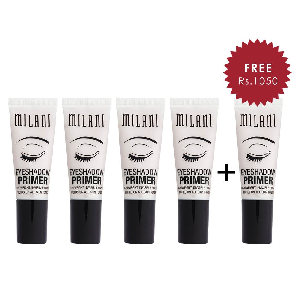 Milani Eyeshadow Primer Nude 4pc Set + 1 Full Size Product Worth 25% Value Free