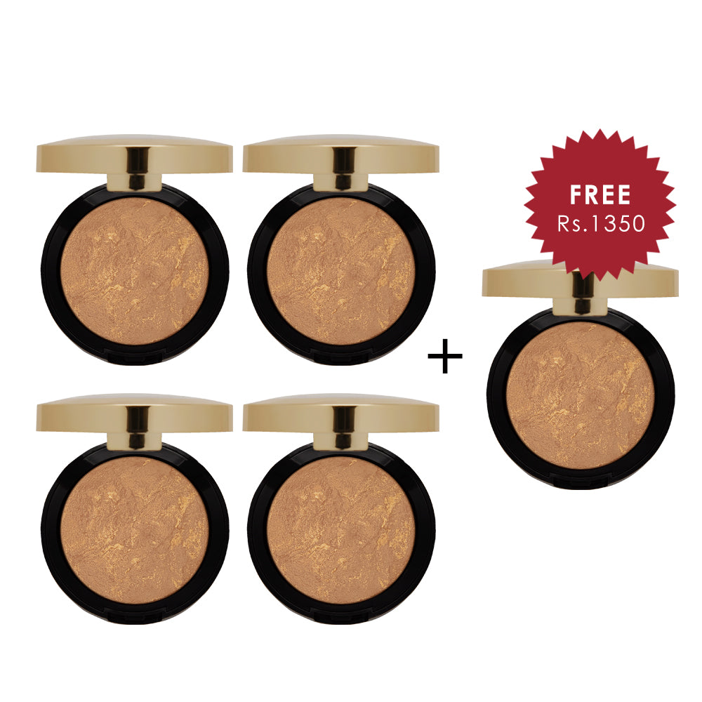Milani Baked Bronzer Soleil 4pc Set + 1 Full Size Product Worth 25% Value Free
