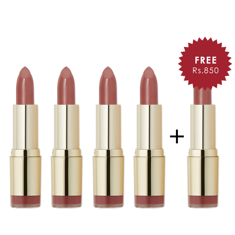 Milani Color Statement Lipstick Naturally Chic 4pc Set + 1 Full Size Product Worth 25% Value Free