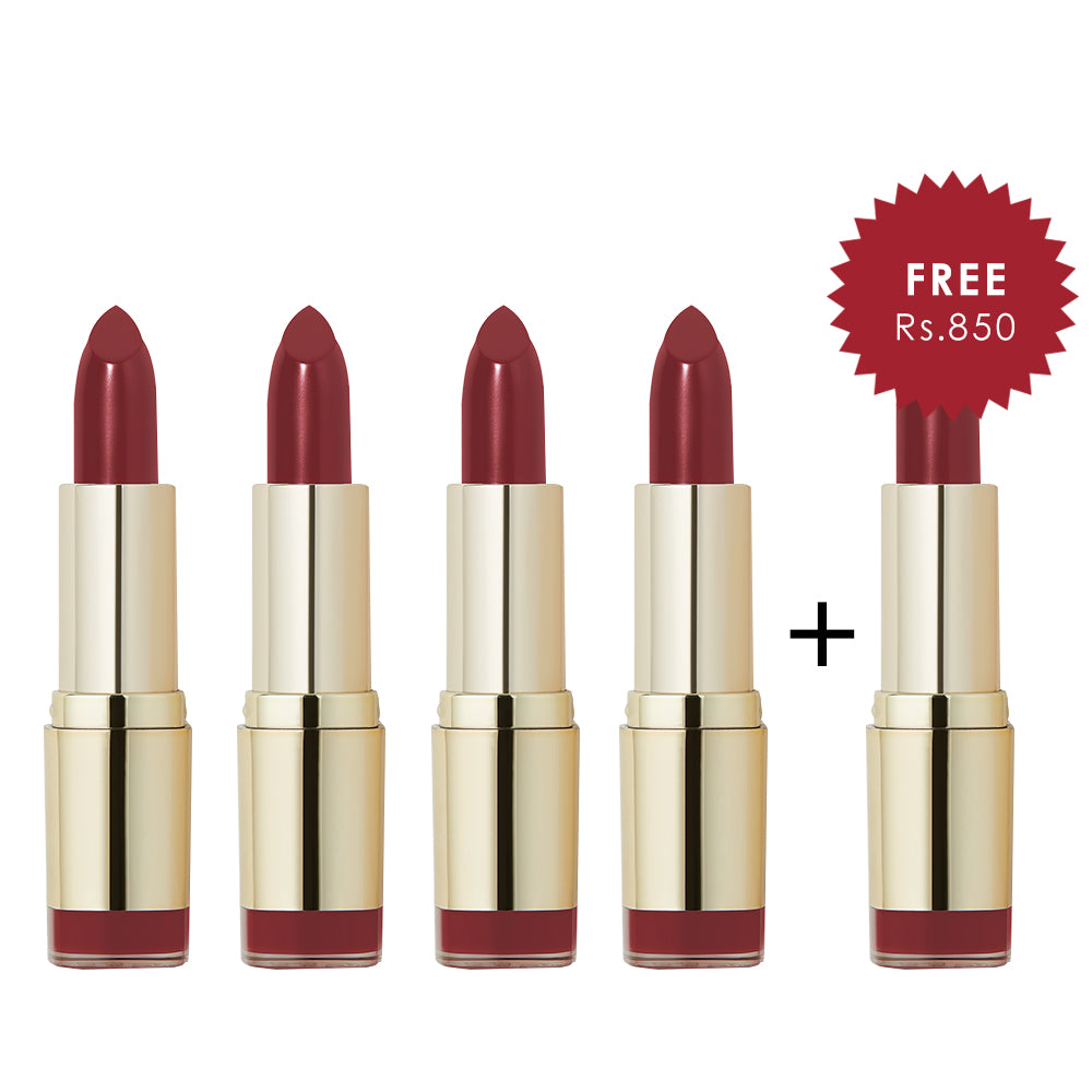 Milani Matte Color Statement Lipstick Matte Iconic 4pc Set + 1 Full Size Product Worth 25% Value Free