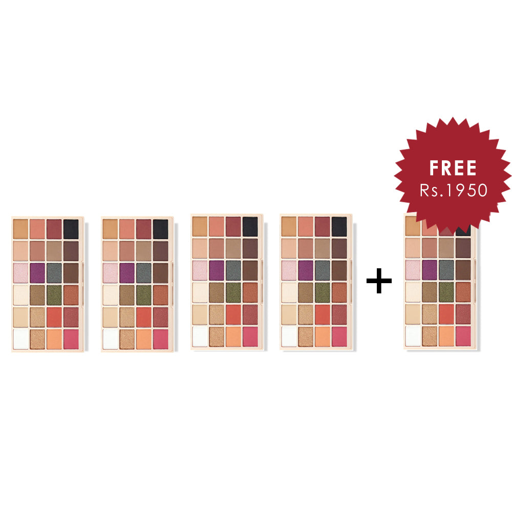 Makeup Revolution X Soph Eyeshadow Palette 4Pcs Set + 1 Full Size Product Worth 25% Value Free