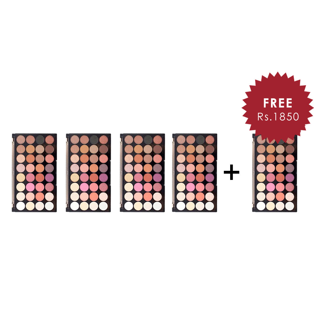 Makeup Revolution Ultra 32 Eyeshadow Palette Flawless 4 4Pcs Set + 1 Full Size Product Worth 25% Value Free