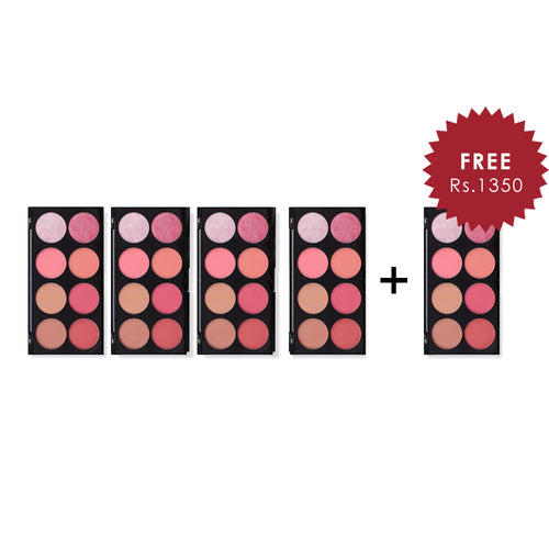 Makeup Revolution Ultra Blush Palette Sugar and Spice 4Pcs Set + 1 Full Size Product Worth 25% Value Free