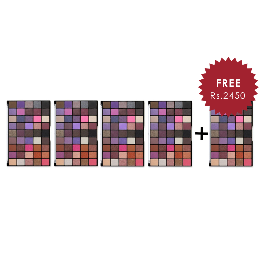 Makeup Revolution Maxi Reloaded Baby Grand Eyeshadow Palette 4Pcs Set + 1 Full Size Product Worth 25% Value Free