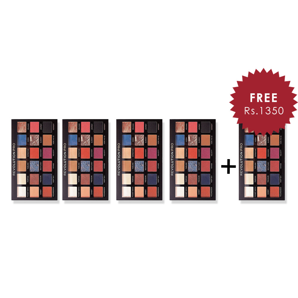 Revolution Pro Regeneration Palette Trends Azure 4Pcs Set + 1 Full Size Product Worth 25% Value Free