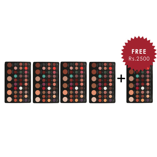Makeup Revolution Shook Eyeshadow Palette 4Pcs Set + 1 Full Size Product Worth 25% Value Free