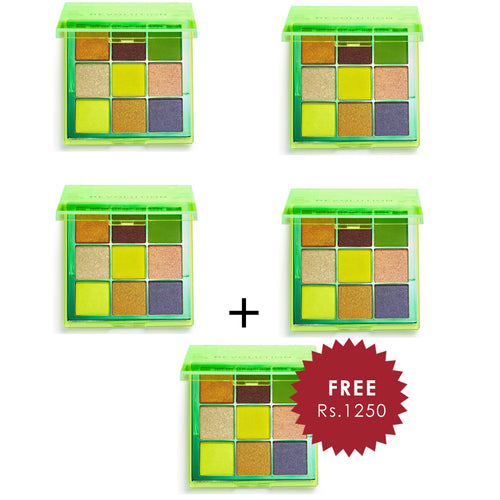 Revolution Viva Neon Palette Up All Night 4pc Set + 1 Full Size Product Worth 25% Value Free