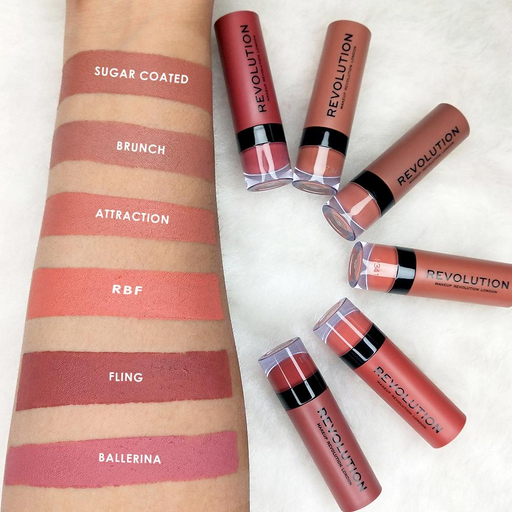 Makeup Revolution Matte Lipstick - Muse 126 4Pcs Set + 1 Full Size Product Worth 25% Value Free