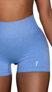 Impact Seamless High Waisted Shorts - Blue