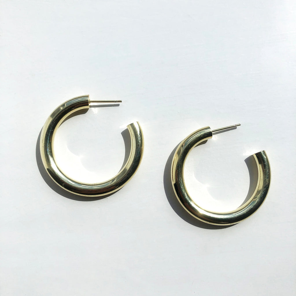 Small Chunky Gold Hoops