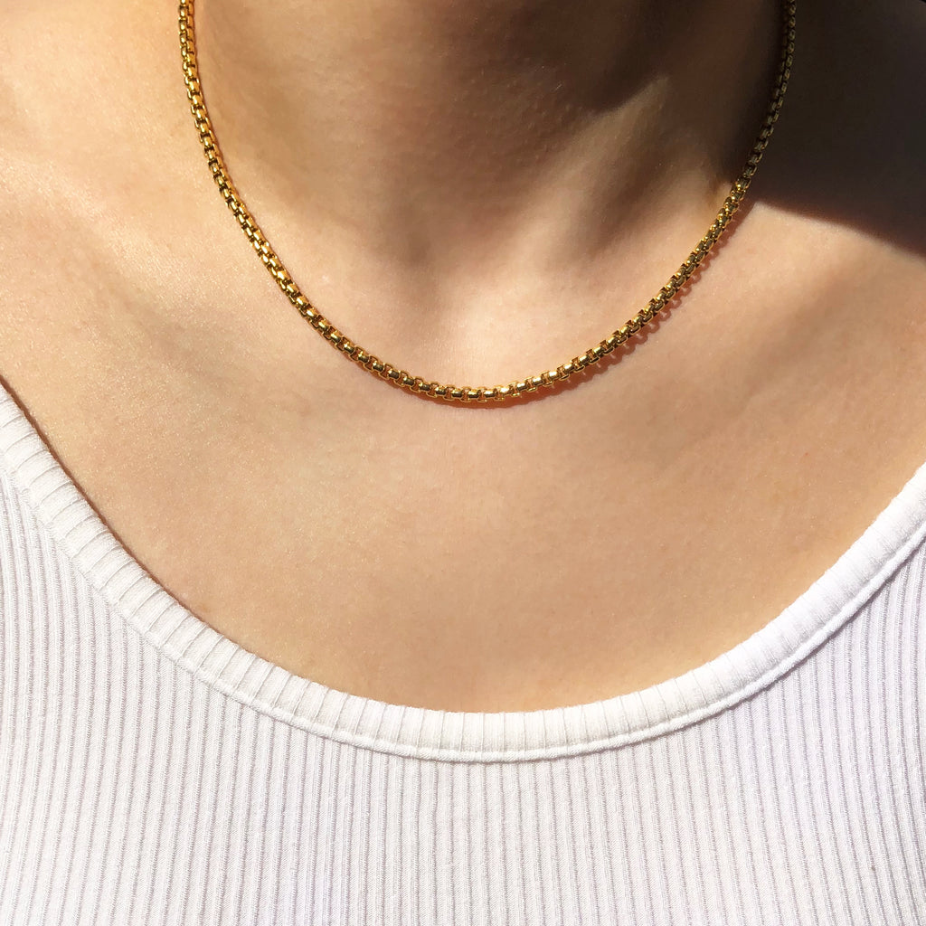 Dainty Rolo Chain Necklace