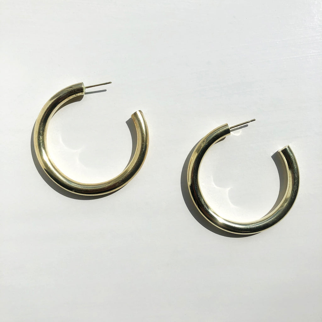 Medium Chunky Gold Hoops
