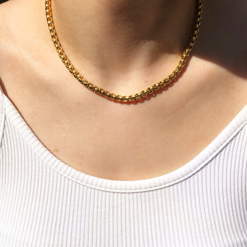 Chunky Rolo Chain Necklace
