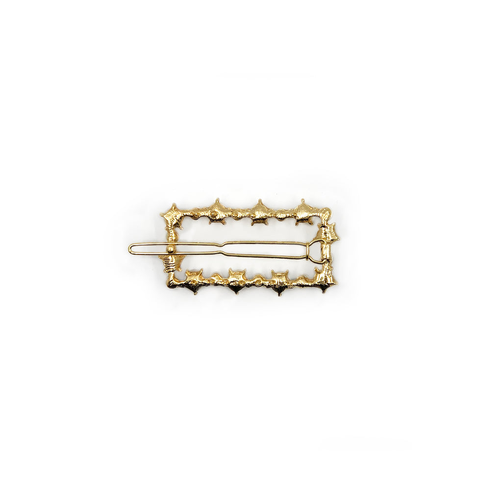 Mei Mi Studio Gold Pearl Rectangle Barrette