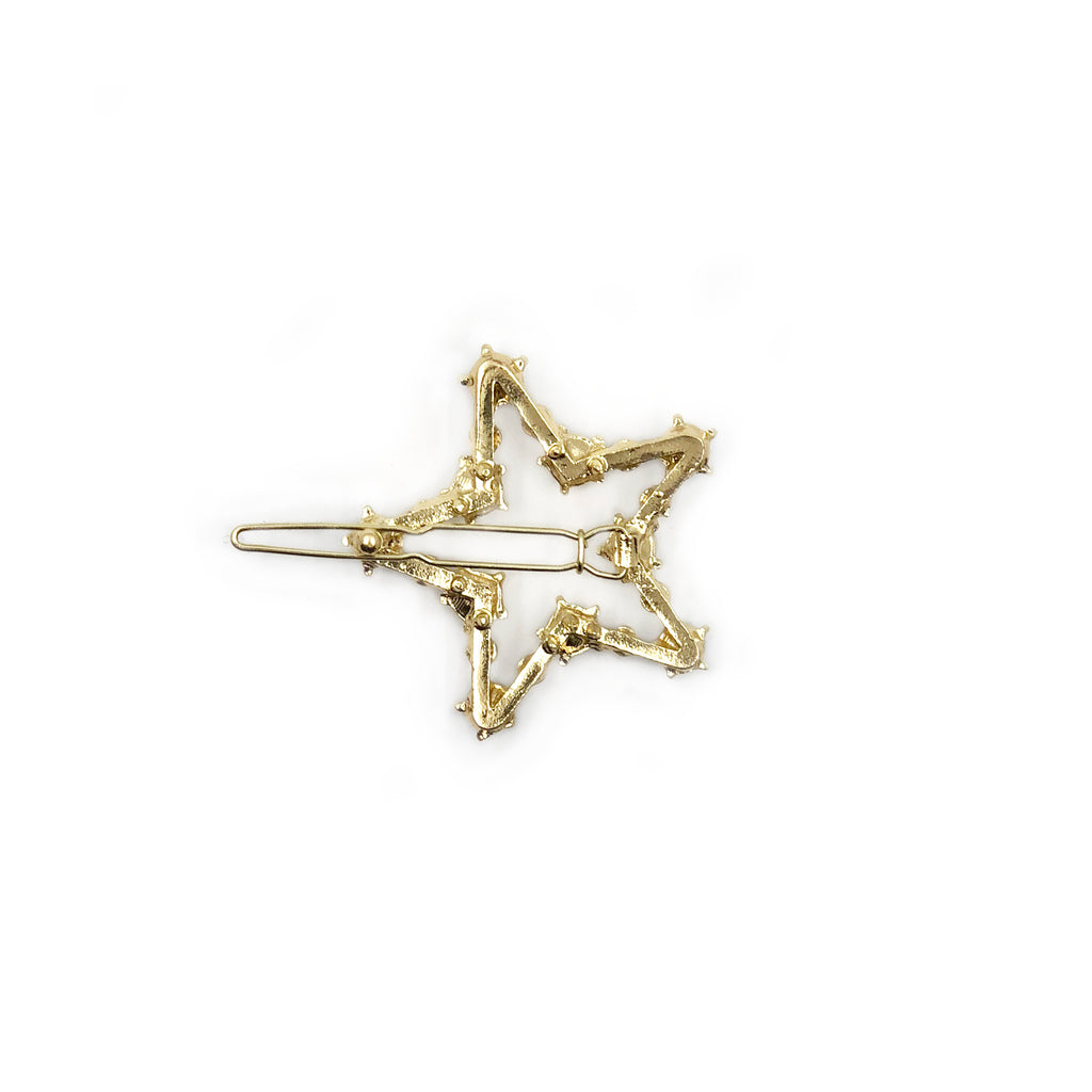 Mei Mi Studio Gold Pearl Star Barrette