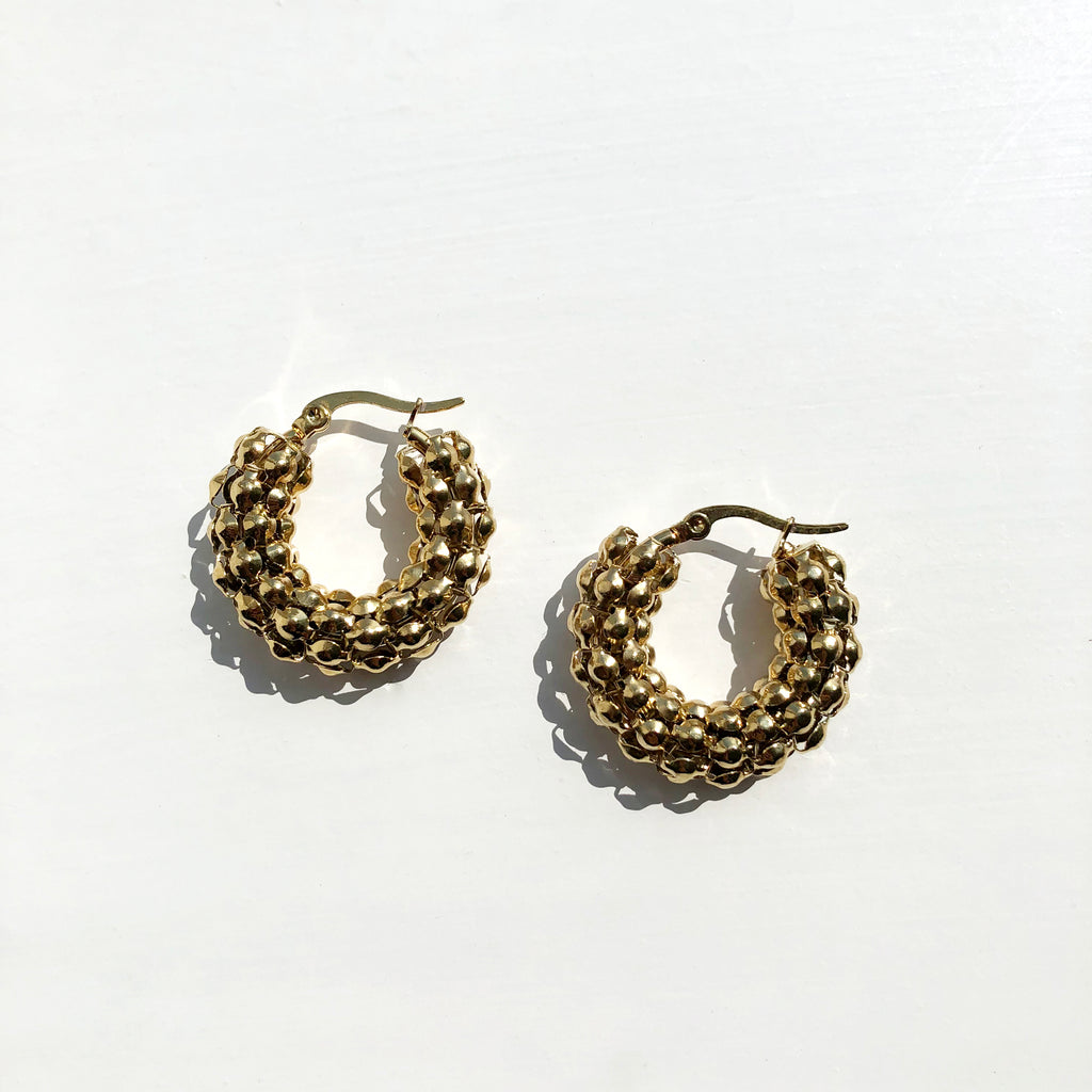 Textured Chunky Hoop Earrings