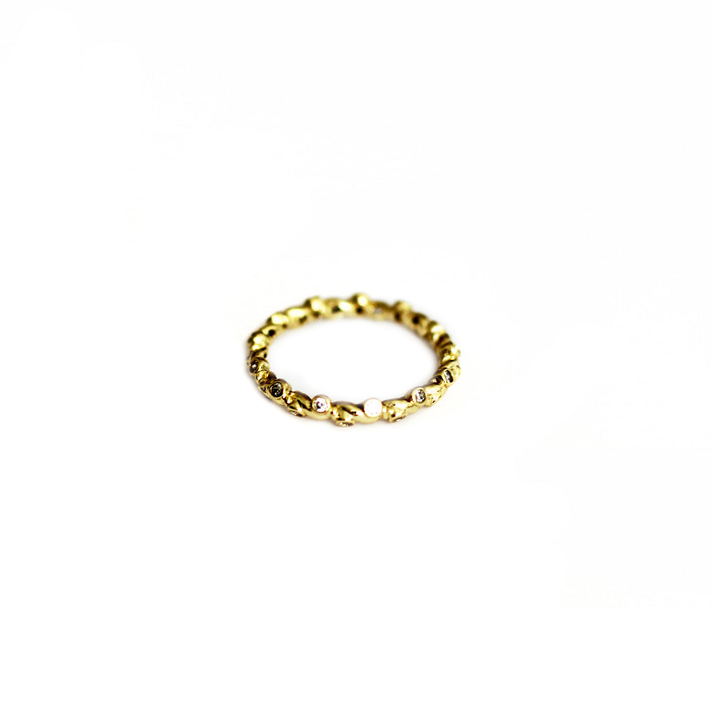 Gold Plated Gem Ring Mei Mi Studio