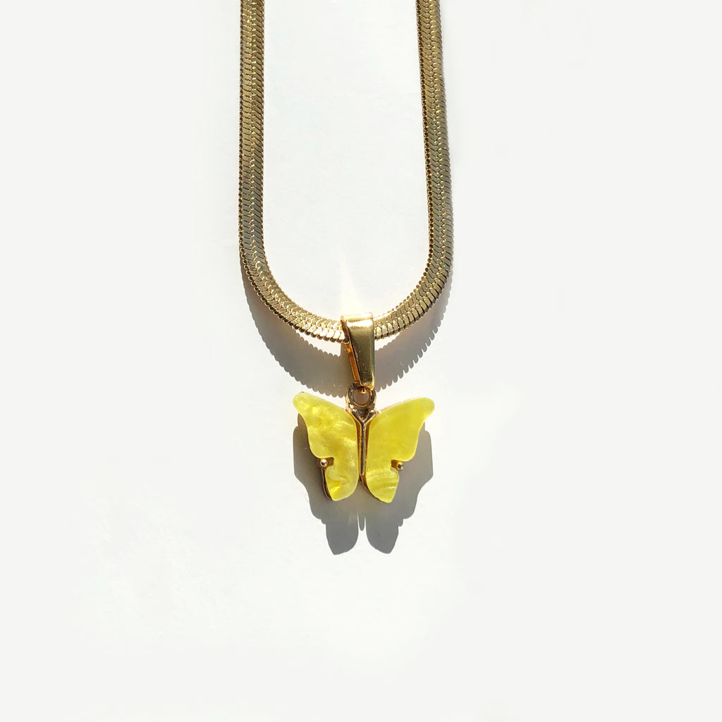 Canary Butterfly Necklace