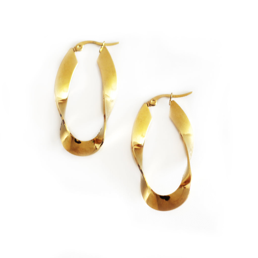 Gold Twist Earrings Mei Mi Studio