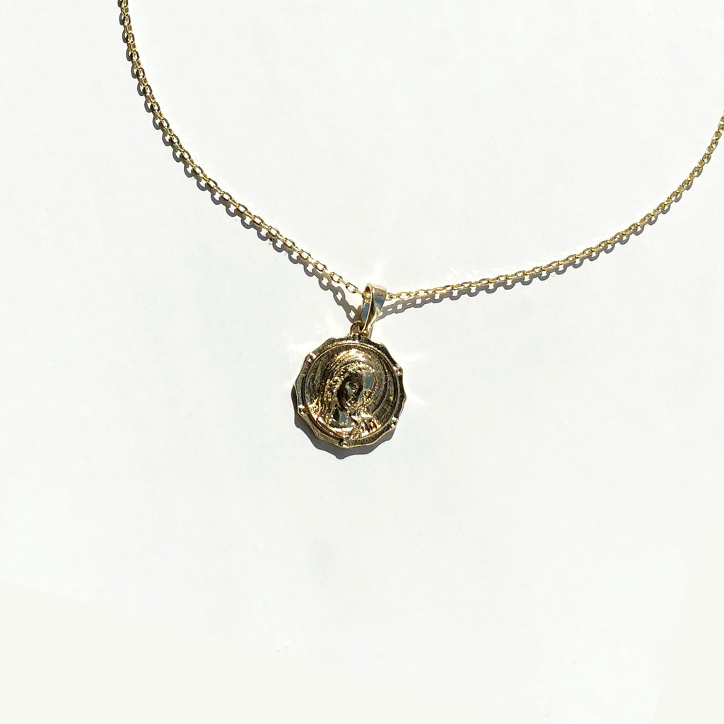 Angelic Coin Pendant Necklace