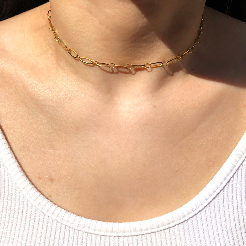 Gold Filled Cable Chain Necklace