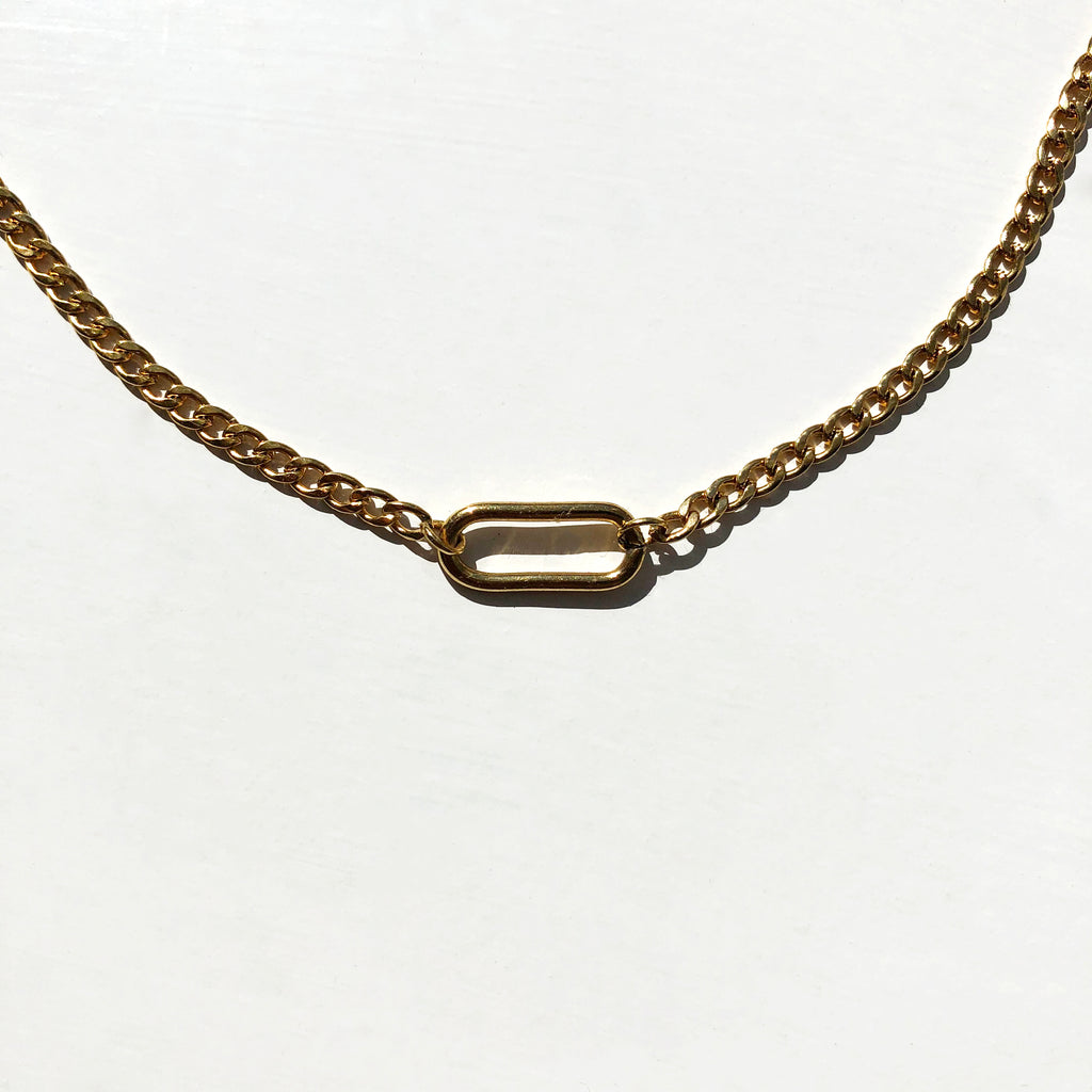 Cuban Oval Necklace