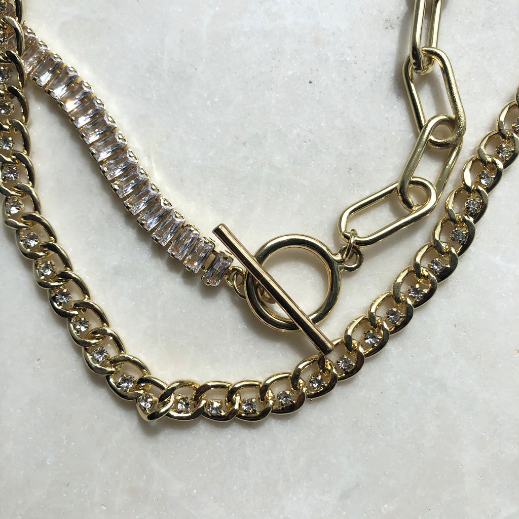 Cubic Zirconia Cuban Necklace