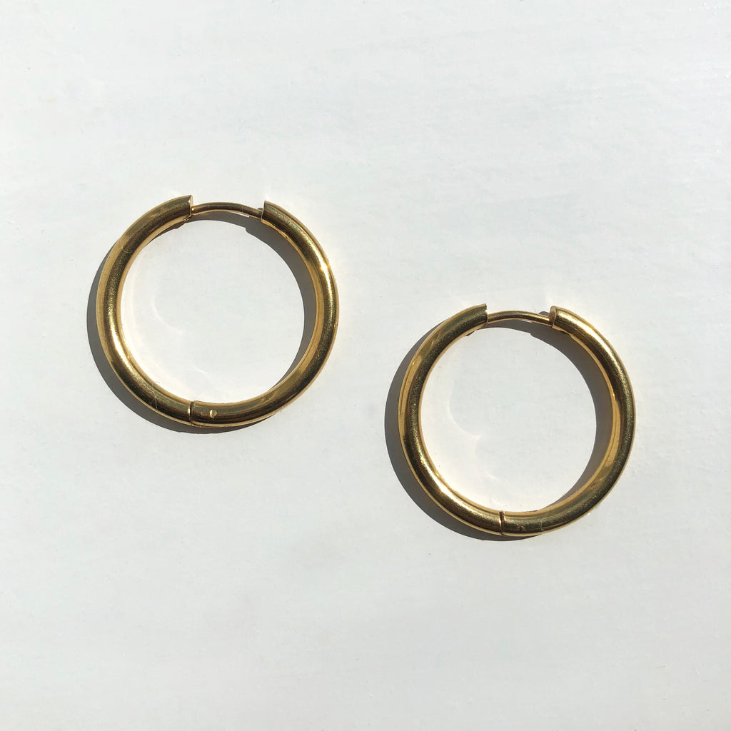 Gold Medium Tube Hoops