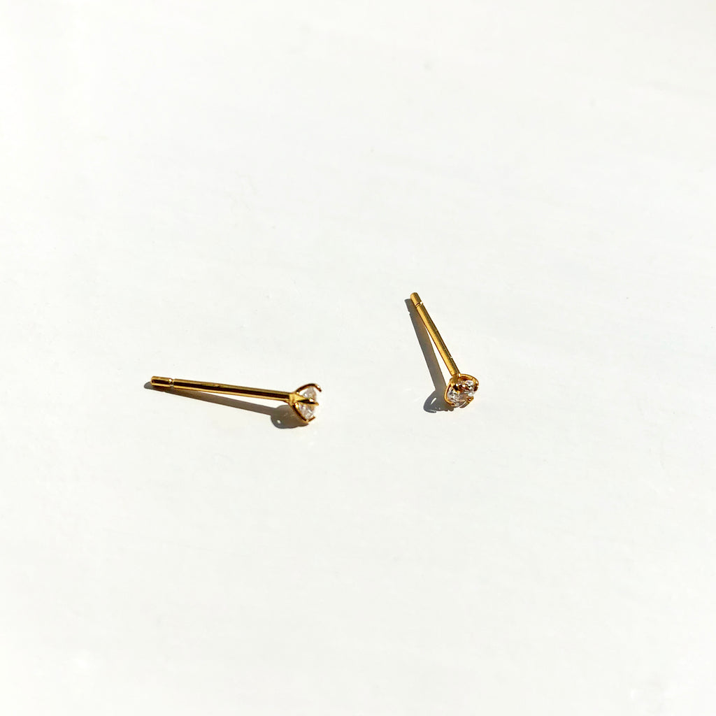 Gold Vermeil Simple Studs