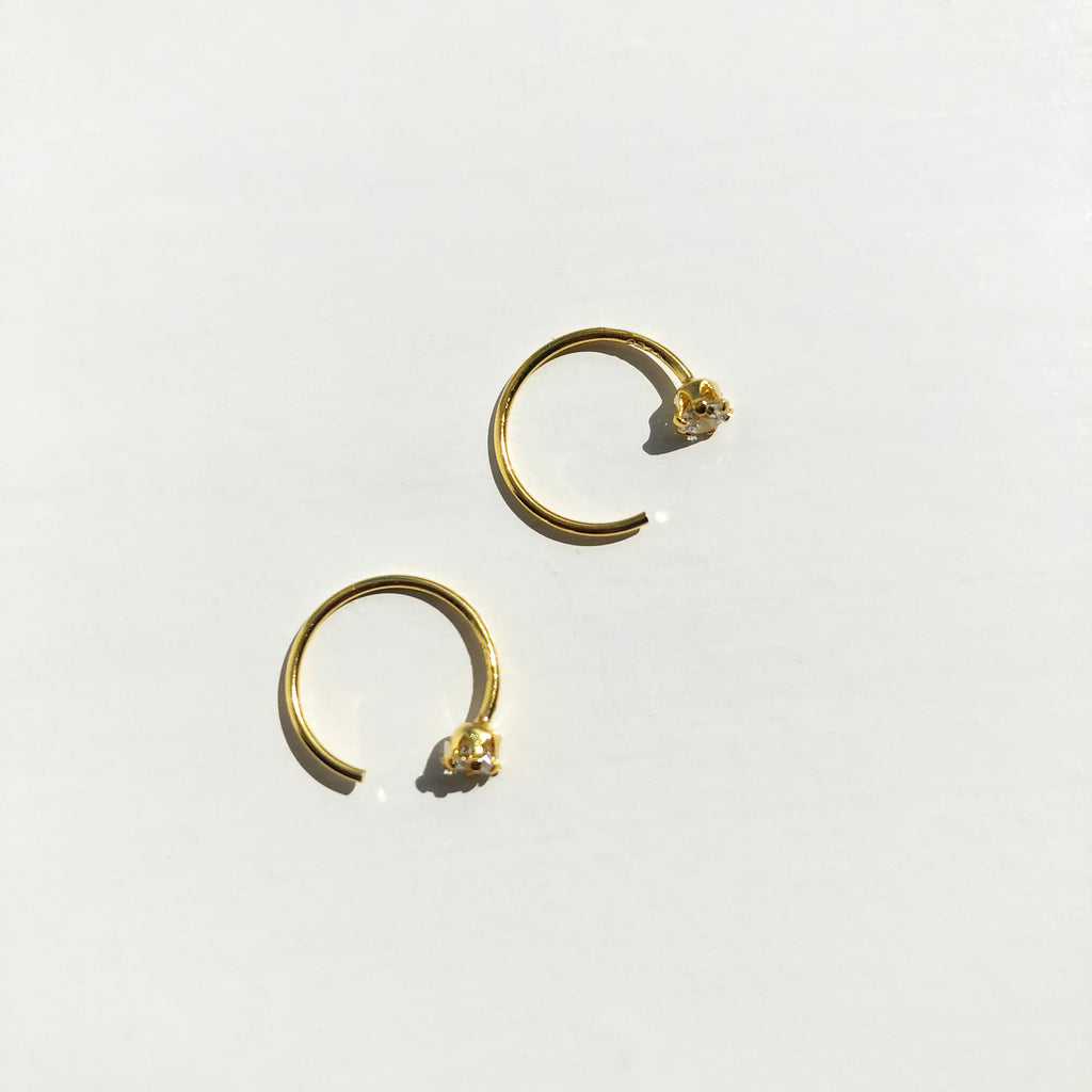 Gold Vermeil Open Cuff Hoops - Lana