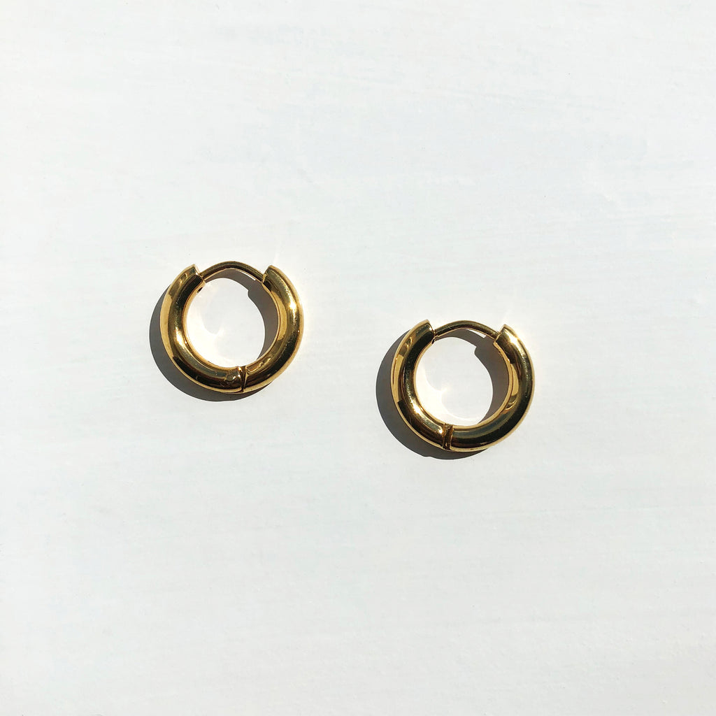 Simple Gold Hoops - Safiya