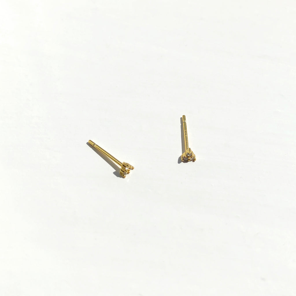 Gold Vermeil Mini Triangle Studs