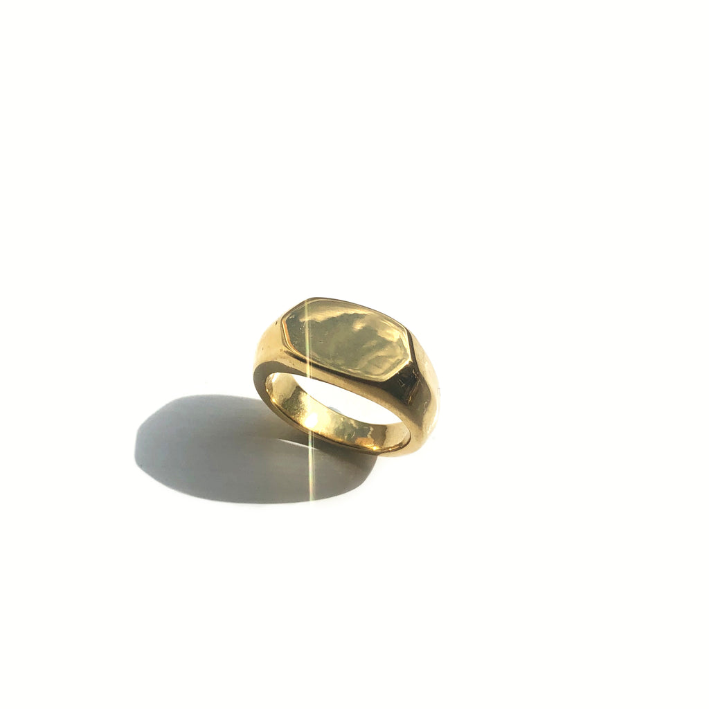 Hexagon Signet Ring - Leo
