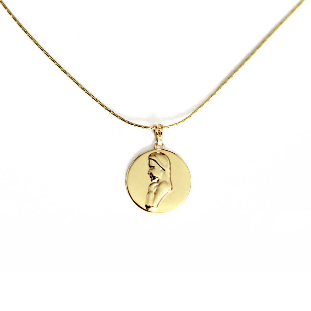 Mother Mary Coin Necklace Mei Mi Studio