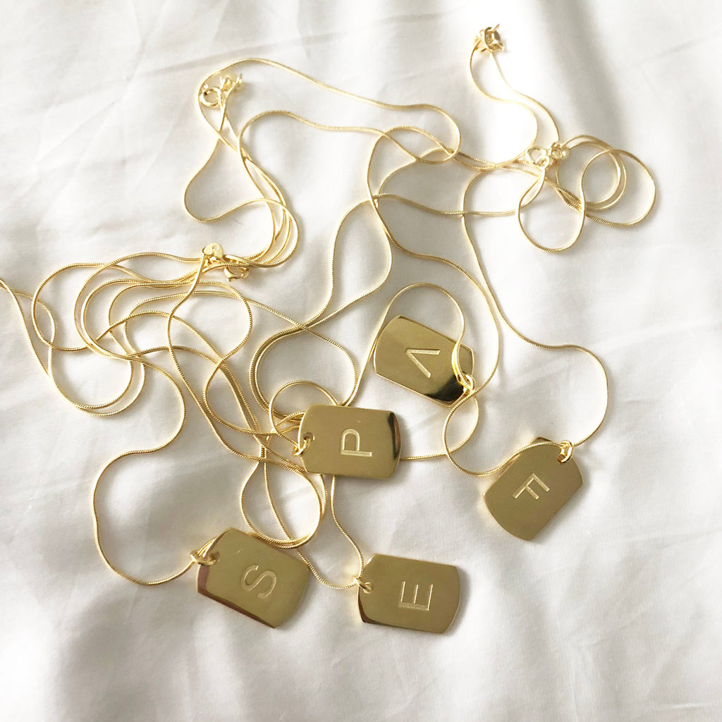 Personalised Initial Tag Necklace