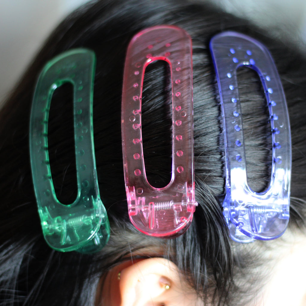 Jumbo Transparent Purple Clip