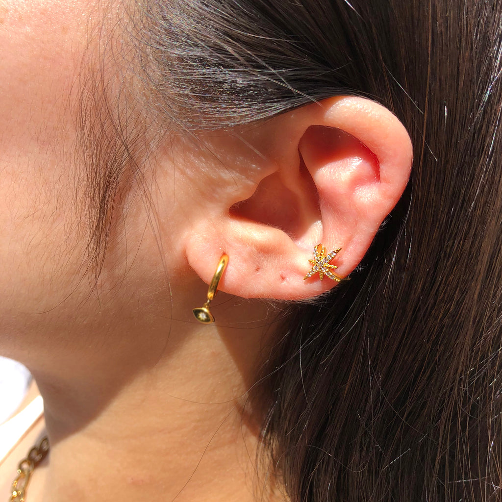 Gold Vermeil North Star Ear Cuff - Skylar