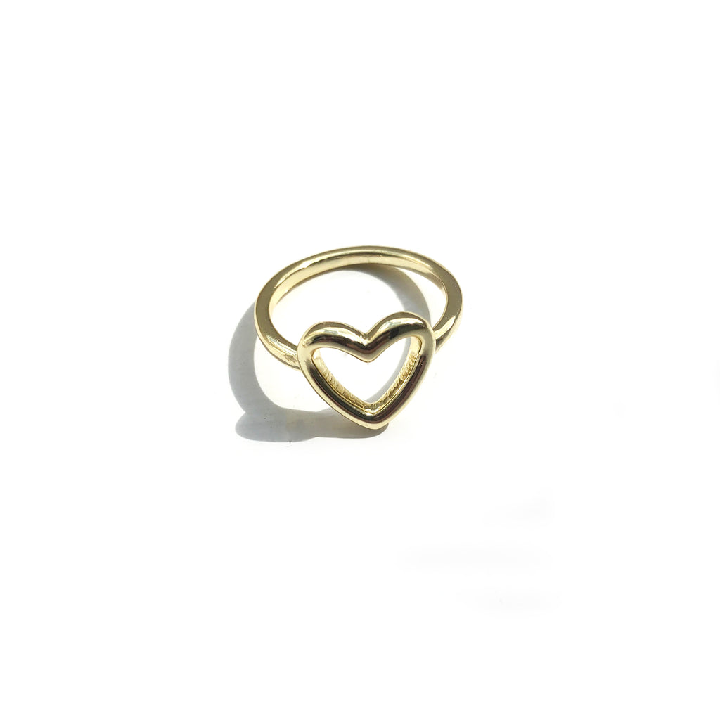 Gold Open Heart Ring - Ophelia