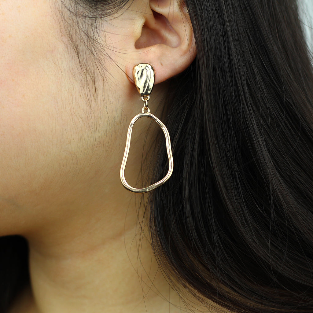 Irregular Geometric Earrings Mei Mi Studio