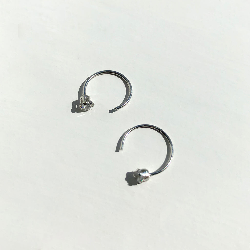 Sterling Silver Open Cuff Hoops