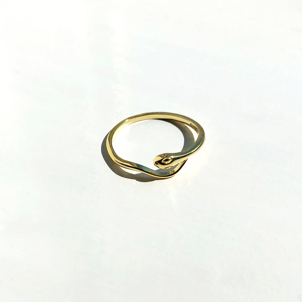 Gold Vermeil Snake Ring